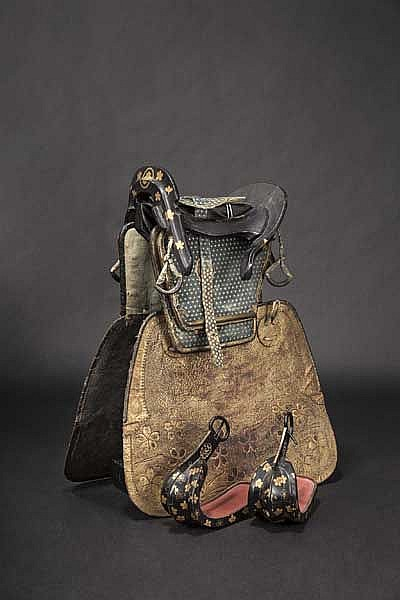 A saddle set, late Edo period