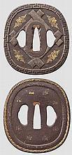 Two tsuba, 2nd half of Edo period