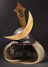 A four-plate okitenugui kabuto, 1st half of Edo period