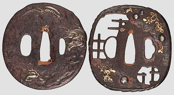 Two tsuba, 2nd half of Edo period