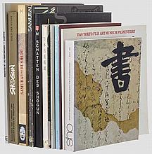 Ten exhibition catalogues