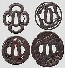 Four tsuba, 2nd half of Edo period