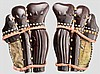 A pair of o tateage suneate, 2nd half of Edo period