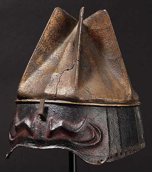 An eight-plate kawara bachi, Momoyama period