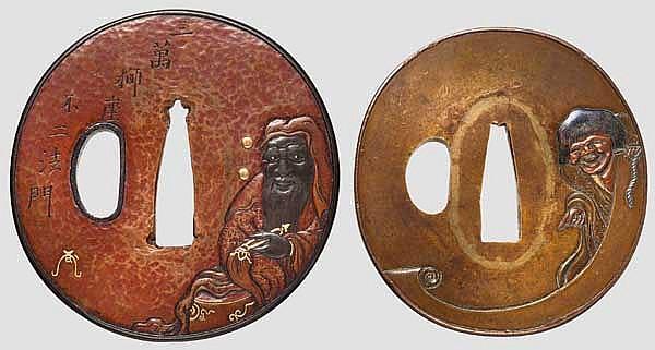 Two tsuba, late Edo/early Meiji period