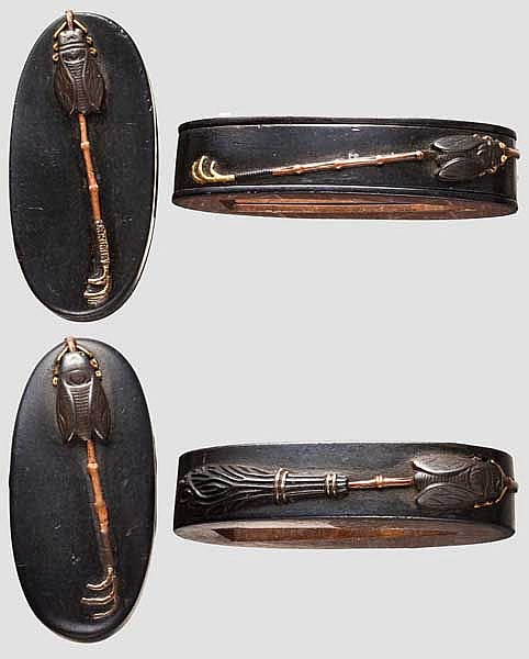 Fuchi kashira for a daisho, late Edo period