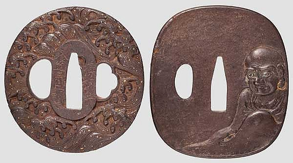 Two tsuba, late Edo period
