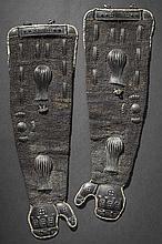 A pair of odakote, 1st half of Edo period