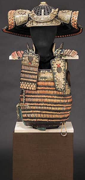 An o-yoroi suit of armour with 26-plate composite hoshi kabuto, mid/late Edo period
