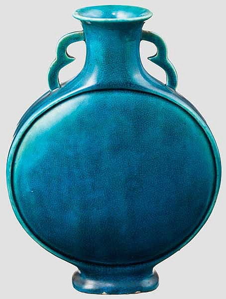 A Chinese pilgrim bottle, late Qing period