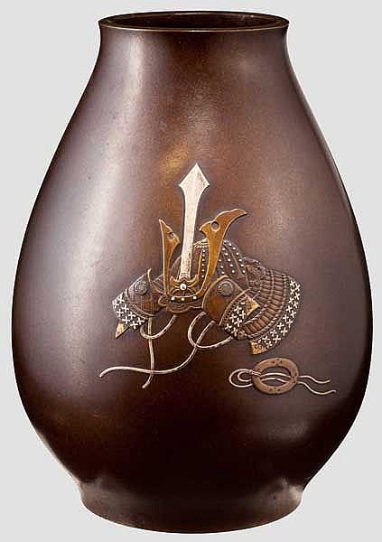 A bronze vase, Meiji period