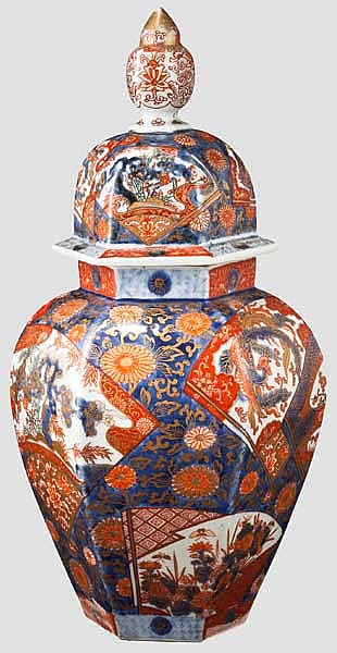 A satsuma vase with lid, Meiji period