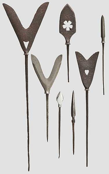 Seven yanone (arrow heads), 2nd half of Edo period