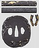 Four sword fittings, late Edo period