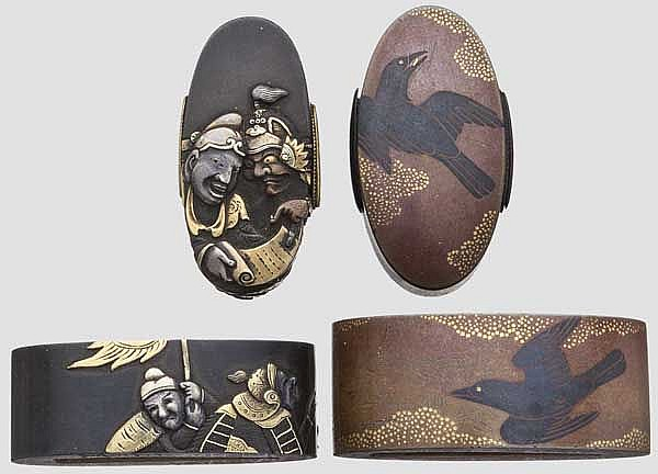 Two fuchi kashira, late Edo period
