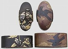 Two fuchi kashira, late Edo period