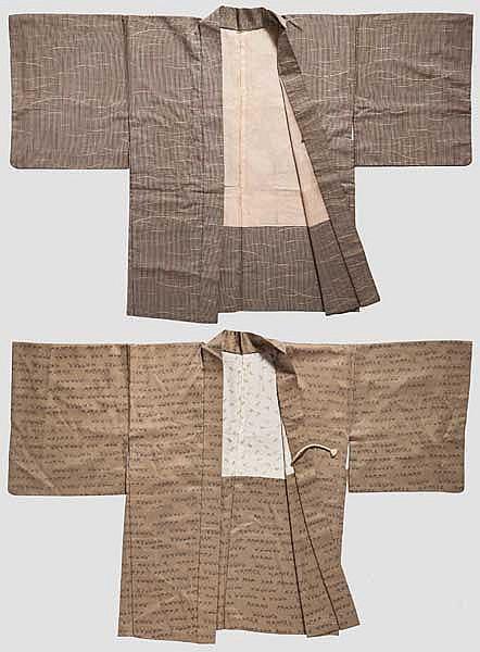 Two kimono jackets, Taisho period