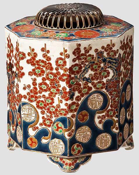 A satsuma censer (koro), Meiji period