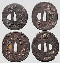 Four tsuba, mid Edo period