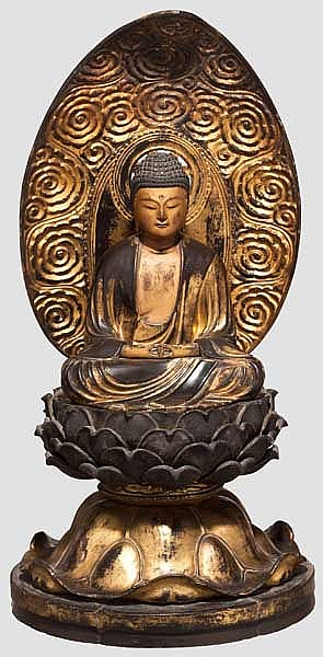 A figure of buddha, 2nd half of Edo period