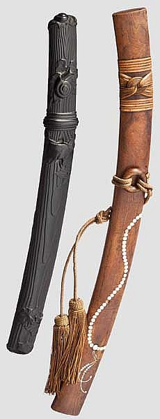 Two bokuto (doctor's sword), 2nd half of Edo period