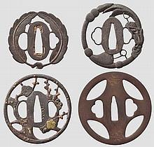 Four tsuba, Edo period