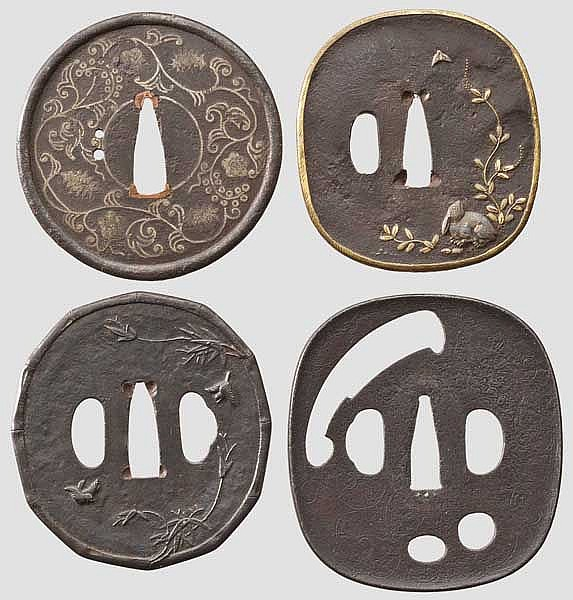 Four tsuba, 2nd half of Edo period
