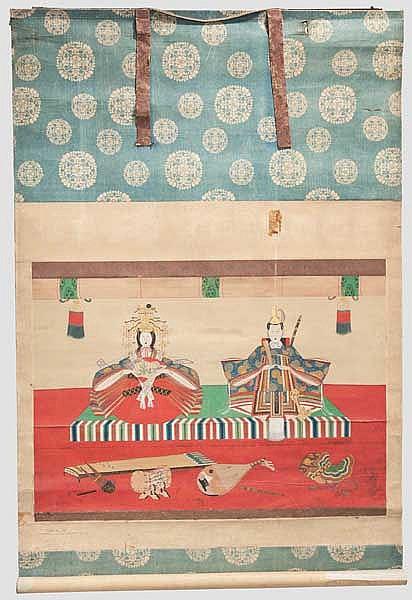 A kakemono, late Edo period