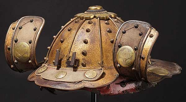 A fireman's kabuto, 15th century and late Edo period
