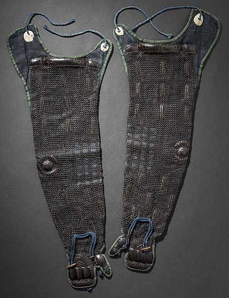 A pair of kusari kote, 2nd half of Edo period