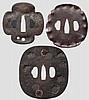 Three tsuba, mid Edo period