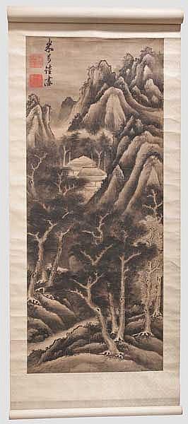 A kakemono, Meiji period