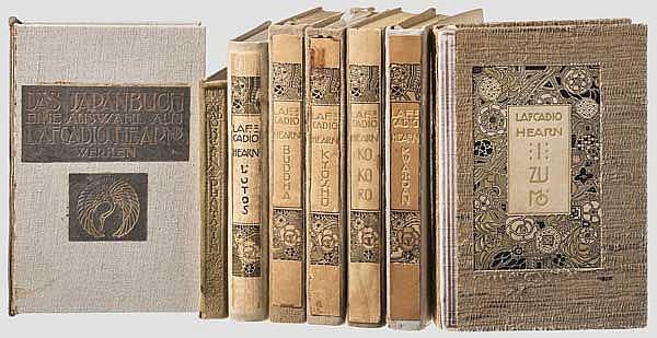 Eight volumes Lafcadio Hearn