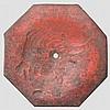 An iron jingasa, late Edo/early Meiji period
