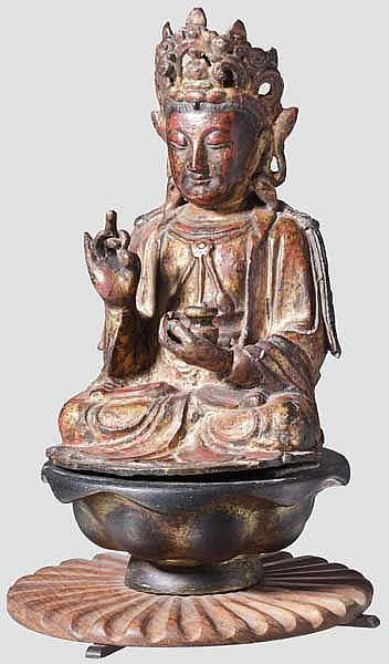A Chinese bronze of Guanyin, late Ming period
