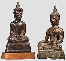 Two Siamese figures of Amida, 18th century
