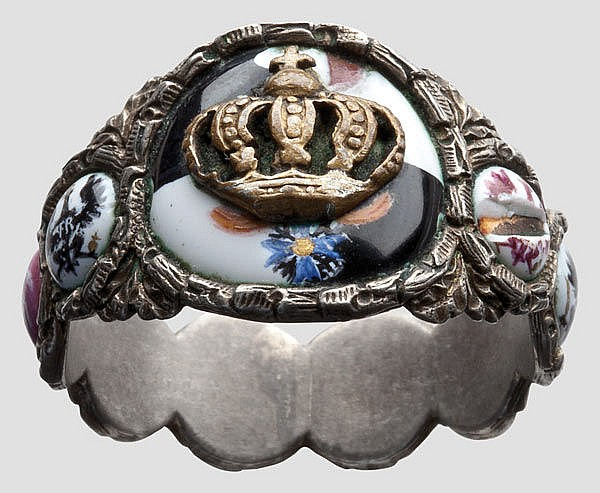 PREUSSEN HERRSCHERHAUS HOHENZOLLERN - Friedrich Wilhelm III (1770 - 1840) - a ring with coat of arms
