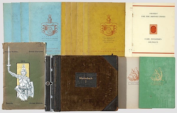 DEUTSCHLAND ALLGEMEIN - A sample book, catalogues and broadsword samples of various sword manufacturers
