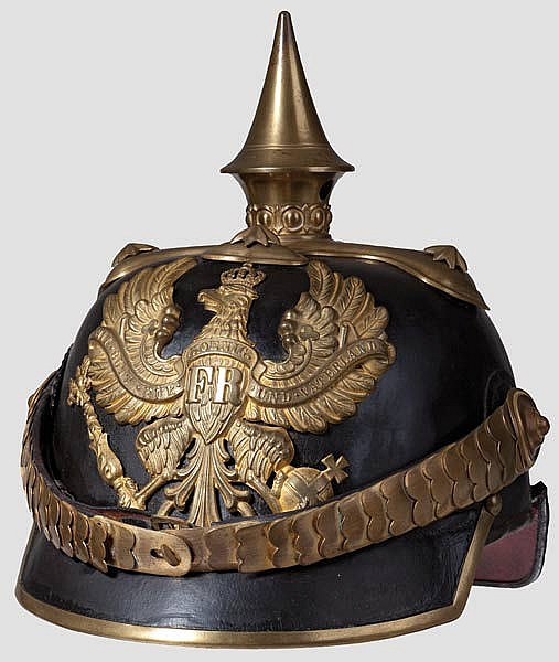 PREUSSEN INFANTERIE - Helm M1860 für Offiziere der Linieninfanterie