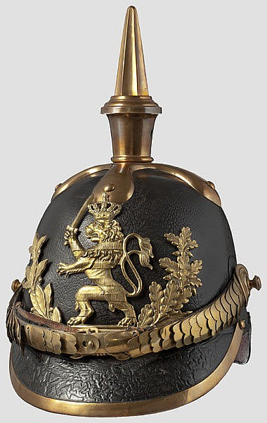HESSEN-DARMSTADT - A helmet M 1849 for officers of the Grand Ducal Hessian troops