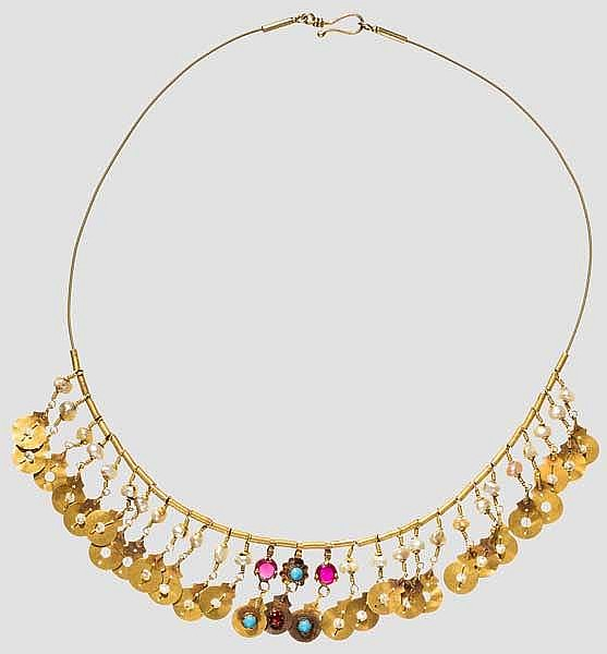 Goldene Halskette, osmanisch, 19. Jhdt.