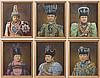 18 gemalte und gerahmte Portraits von verschiedenen Maharadschas und Maharanis um 1900
