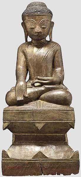An Indian or Burmese Buddha Bhumisparsha Mudra, 18th/19th century