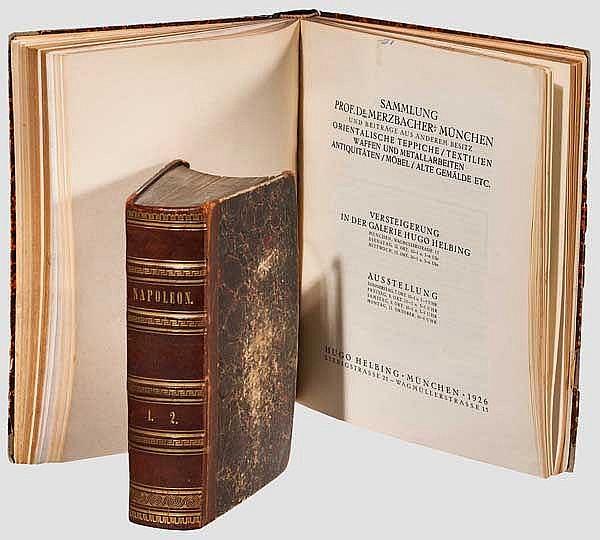 Band Auktionskataloge von Lepke, Heilbron, Helbing und ein Quellenwerk über Napoleon I.