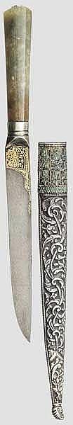 Goldtauschierter Kard mit Jadegriff, osmanisch um 1780
