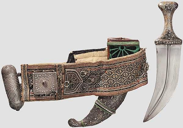 A Yemeni jambiya with belt, 1st half of the 20th century