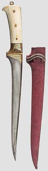 Großer, goldtauschierter Karud, Sirohi, Rajasthan Indien, 19. Jhdt.