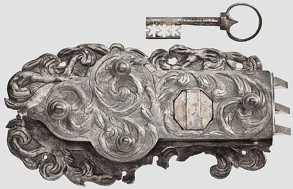 Schrankschloss, deutsch um 1720