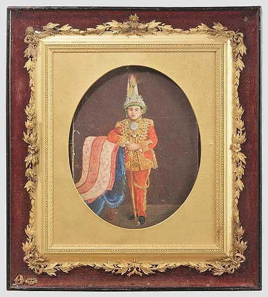 Portrait eines jungen Maharadschas, 19. Jhdt.