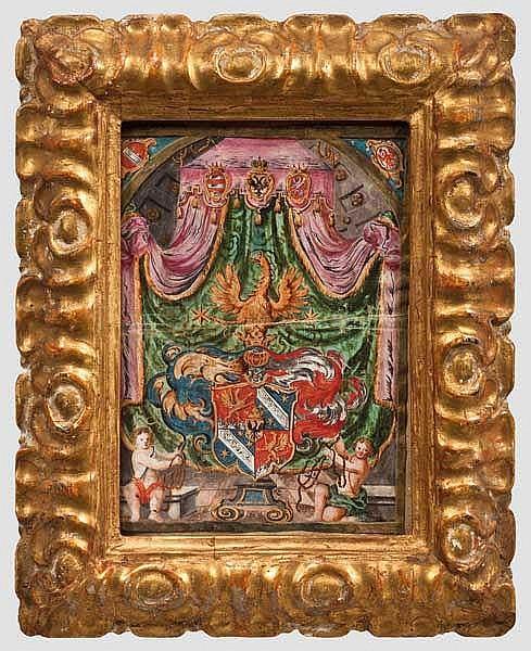 Barockes Wappen, Tirol, datiert 1673